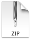 Grafik eines Zip Ordners