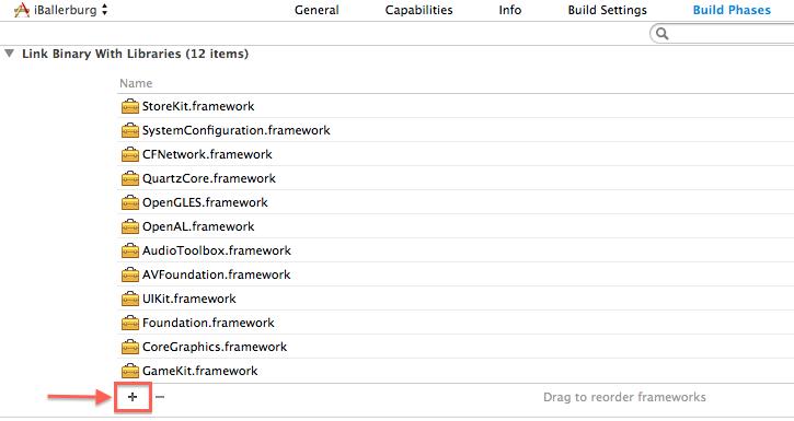 Framework hinzufügen