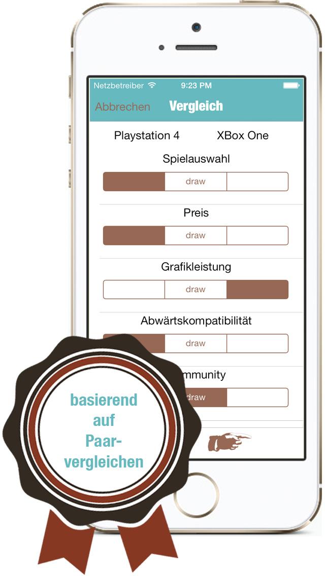 Compare DE iPhone