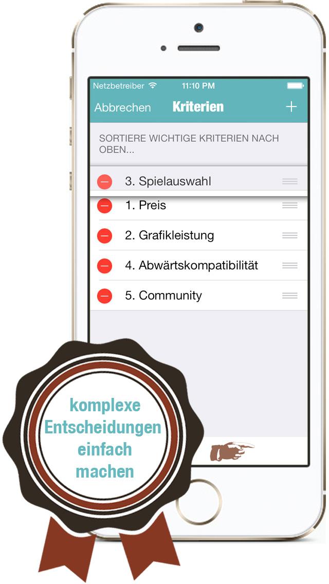 Criterions DE iPhone