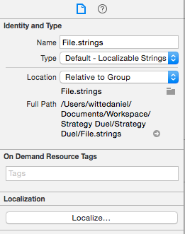 Xcode Localize